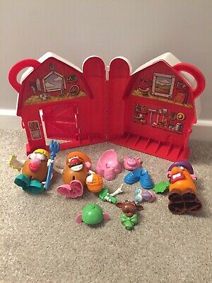 Toy Story Mr Potato Head & Friends Red Barn Farm Playset Storage Box Hasbro 2002