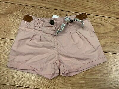 Ladies Pink Long Leg Cotton Chino Summer Shorts Size 10 By Next Worn Once