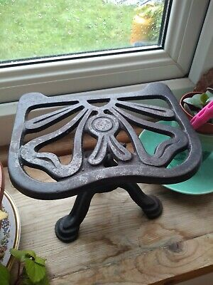 JUSTRYTE, No 729 Garden, studio adjustable cast iron for plants Vintage trivet.