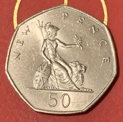 1969 BRITANNIA Old Large Style 50p Fifty Pence coin