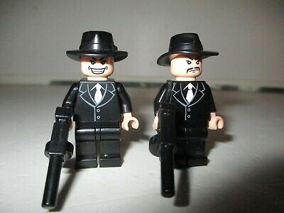 Lego Rare Indiana Jones Minifigures 2 Shanghai Gangsters With Moustache & Grin