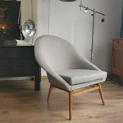 Vintage Mid Century Grey Tub Cocktail Chairs By Heczendorfer László
