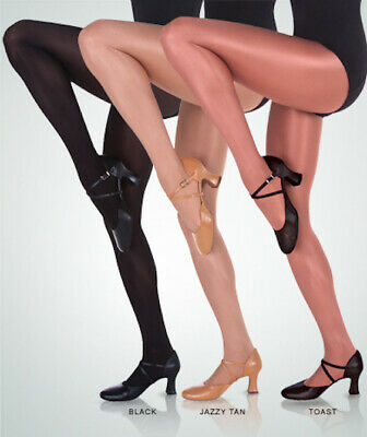 Body Wrappers C55 Toast Girl/'s Size Small 4-6 Ultimate Shimmer Footed Tights