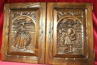 Antique French Vintage Carved Oak Wooden  Doors/Windows Reduced For Xmass