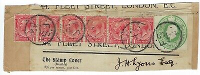 1900's GREAT BRITAIN USED HALF PENNY STATIONARY & (6) ONE PENNY STAMPS SCOTT 160