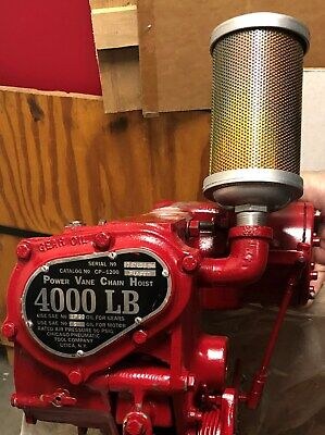 NEW Chicago Pneumatic CP1200 FUNFED (2) Ton Pull Chain Hoist