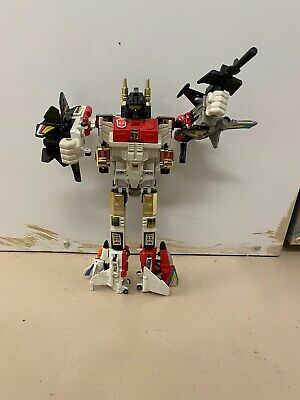 Transformers G1 SILVERBOLT Superion Aerialbot Chest w Sticker 1985 Original Part