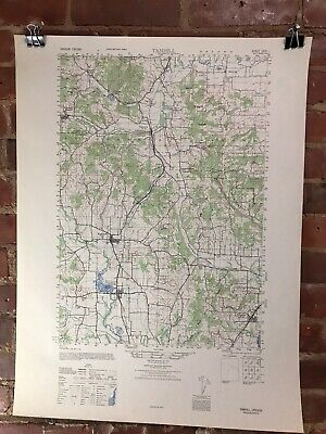 Yamhill Oregon 1947 Map Vintage Original Large USGS Topographic Army Map