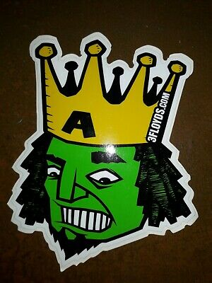 THREE FLOYDS BREWING Shield Logo Sticker Decal Craft Beer 3 Indiana Brewery