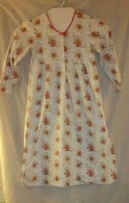 Simply Basic Warm 100% Cotton Flannel Long Sleeve Night Gown Sleepwear M
