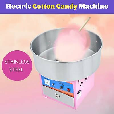 Commercial Electric Cotton Candy Machine Pink Sugar Floss Maker Party Carnival