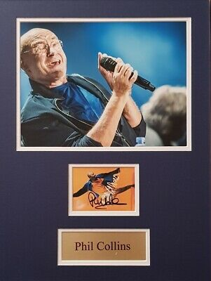 PHIL COLLINS Signed 16x12 Photo Display IN THE AIR TONIGHT COA