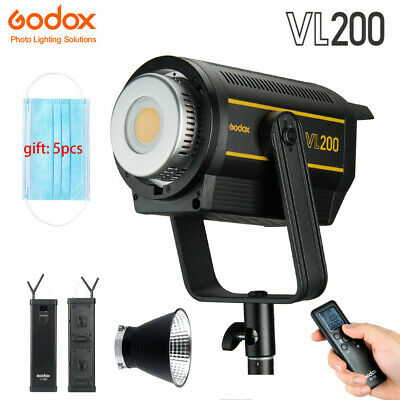 Godox VL200 200Ws Studio Continuous LED Vedio Light Bowens CRI 96 With Carry Bag