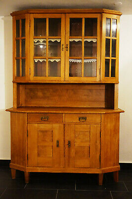 Antiker Bauernschrank Landhaus Vitrine Buffet Schrank original furniture old