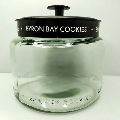 Byron Bay Cookie Jar: Glass + Metal Lid Great for edibles..