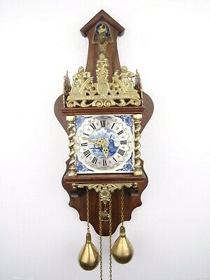 Zaanse DELFT REPAIR Dutch Wall Clock Vintage Antique Holland (Warmink WUBA Era)