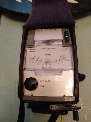 Amprose Meter Model AMC-2 with leather case and testing probes