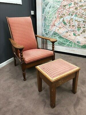 Reclining Armchair In Style  Of William Morris Art And Crafts  1840 -1920
