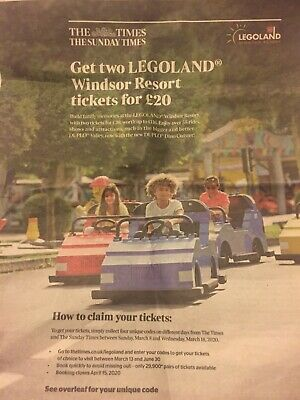 The Times 2 Legoland tickets £20
