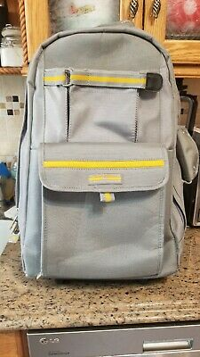 Polo Sport Ralph Lauren Rolling Carry on Luggage Gray Yellow  Backpack 22""