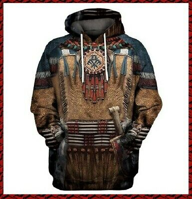 Native American Indian Tribal Pullover Hoodie (S)