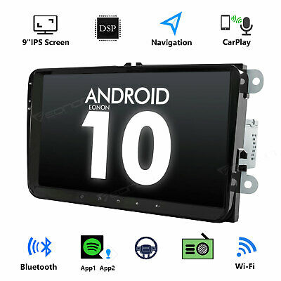 "Android 10 9"" Car GPS for VW Magotan Passat CC B6 B7 Radio Stereo DAB+ CarPlay"