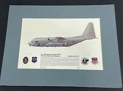 US Air Force AC-130H Spectre Gunship Matted Limited Edition Print