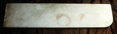 """Antique Marble Shelf Top 28"""" x 6 1/2"""", Rounded one end"""