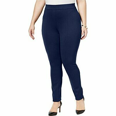 Style & Co. Seamed Stretch Leggings Womens 18W Blue pants MSRP $49
