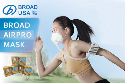 BROAD Electrical Airpro Purifying Respirator with Two Reusable Masks *NEW PACK*