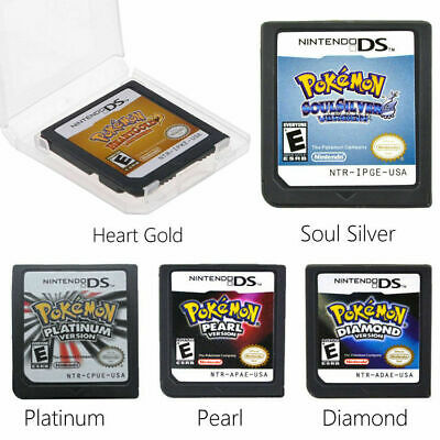 Nintendo 3DS NDSI NDSXL Heart Gold / Soul Silver Edition Pokemon Game Card