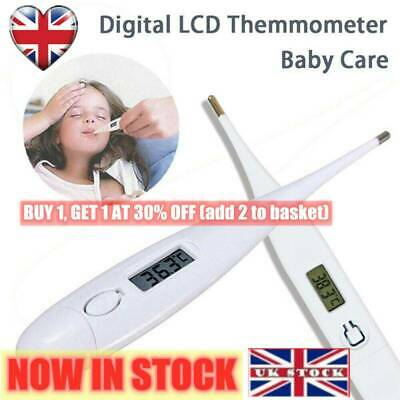 LCD Digital Audible Thermometer Fever Adults Kids Baby Oral Underarm Household