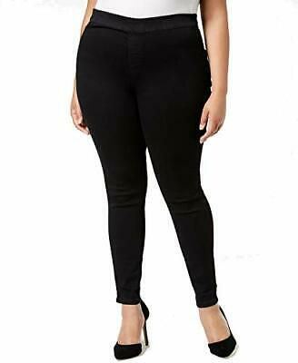 Celebrity Pink Jeggings Stretch Solid Pull-On Womens 18W Black MSRP $77