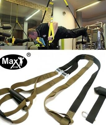 MxG® trainer. Body Trainer. Suspension Straps. Gym Fitness pull up dips heavy
