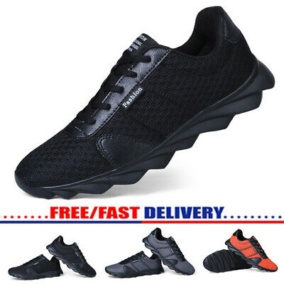Mens Mesh Running Trainers Athletic Walking Running Gym Shoes Sport Jumbo Size