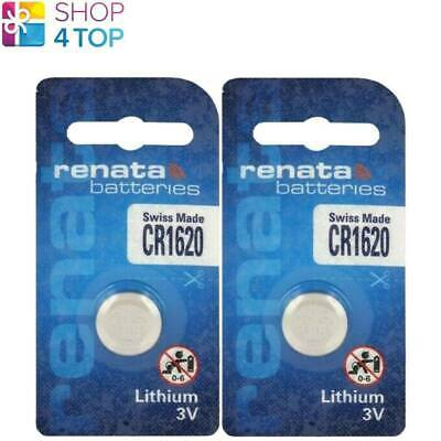 2 Renata Cr1620 Lithium Batteries 3V Cell Coin Button Swiss Made Exp 2025 New