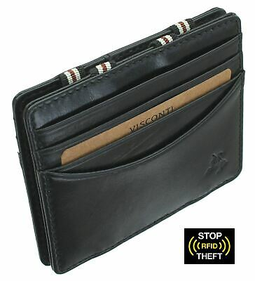 Visconti SLIM Collection CROSSBOW Leather Wallet With RFID Protection VSL31