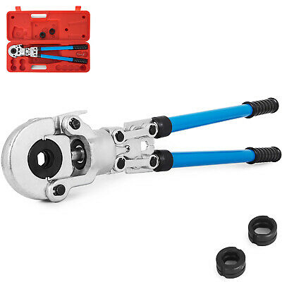 "Pipe Press Copper Crimp Tool 3 Dies 1/2"" 3/4"" 1"" Pipe Crimper Plumbing Tube Tool"
