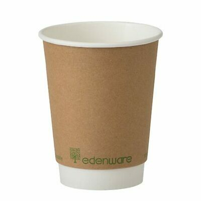 Choice 10 oz. Double Wall Bean Print Paper Hot Cup 25Pack