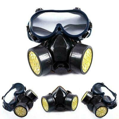 Double Filter Anti Gas Mask Survival Safety Respiratory Emergency Filter Mask UK