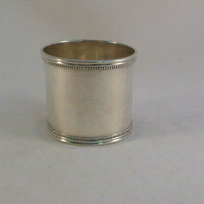 """Beautiful Towle Sterling Beaded Large Napkin Ring-1 3/4"""" Wide"""