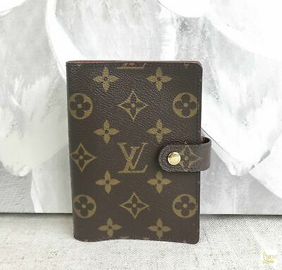 LOUIS VUITTON Brown Monogram Canvas 6 Binder Ring Agenda Pm Wallet Accessory