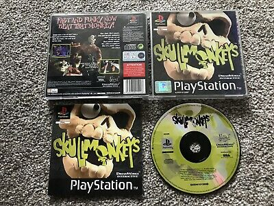 Skullmonkeys Sony Playstation 1 Ps1 Ps2 Ps3 Game With Manual Official Uk Pal