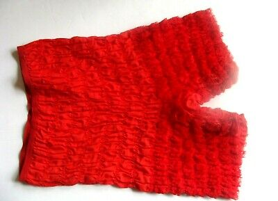 Vintage Red Ruffled Lace size S/M? Bloomers Pettipants Granny Panties  sissy