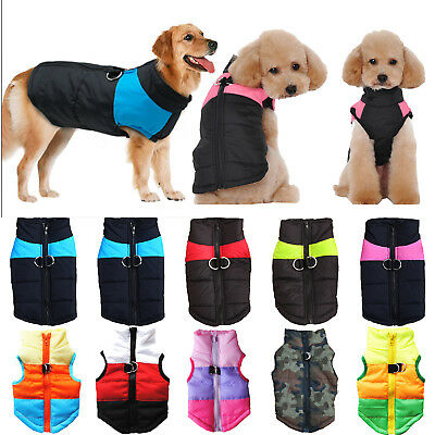 Pet Dog Waterproof Padded Vest Puppy Warm Winter Cloth Thick Puffer Coat Costume