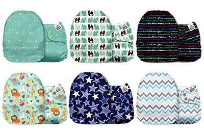 Pocket Cloth Diapers One Size Microfiber Inserts Ultra Absorbent Jagger 6 Pcs