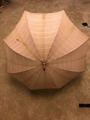 1930s 40s Vintage Bakelite Handle Umbrella Parasol