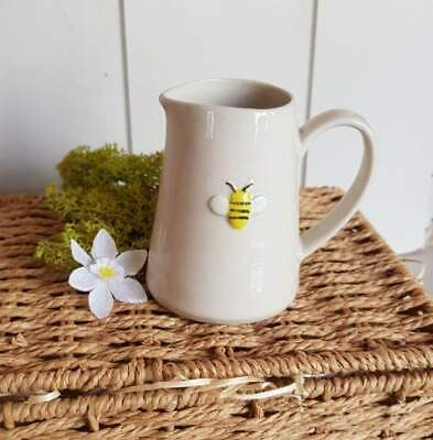 Gisela Graham hand crafted Bee Jug Small 8cm Gift with raised bee design