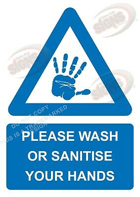 Please wash or sanitise your hands - SIGN or STICKER