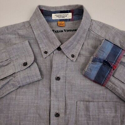 NWT Men/'s Tailor Vintage 3 Button Long Sleeve Tee Shirt  Multi Color /& Sizes